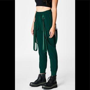 CARMAR Dark Green soft joggers with belt